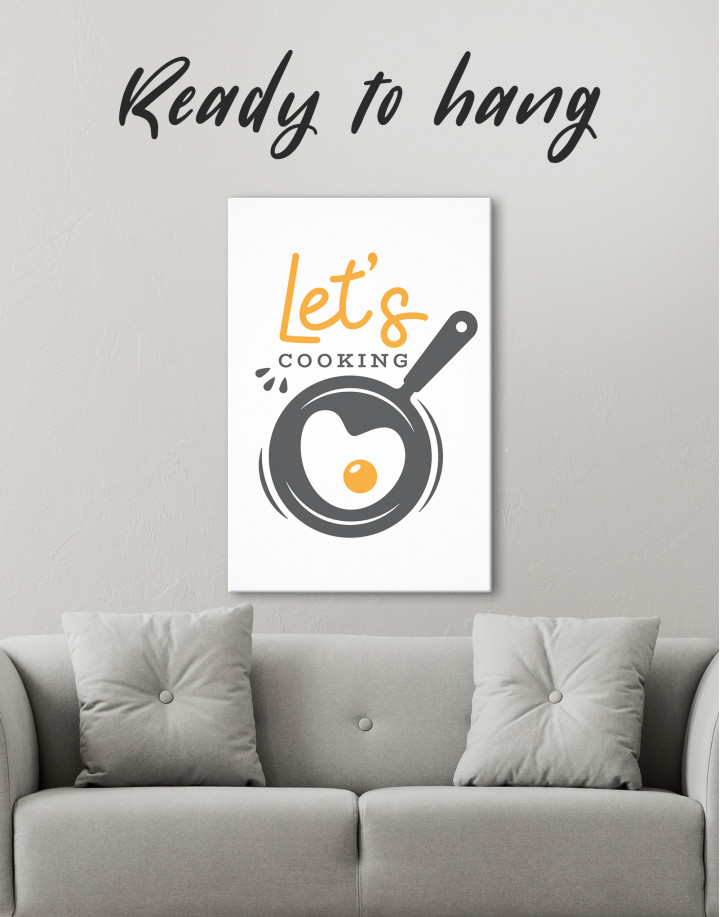 Lets Cooking Canvas Wall Art