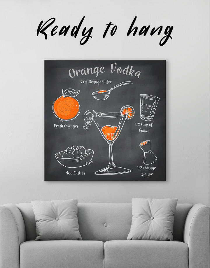 Orange Vodka Cocktail Canvas Wall Art