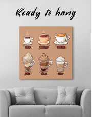 Coffee Types Collection Canvas Wall Art