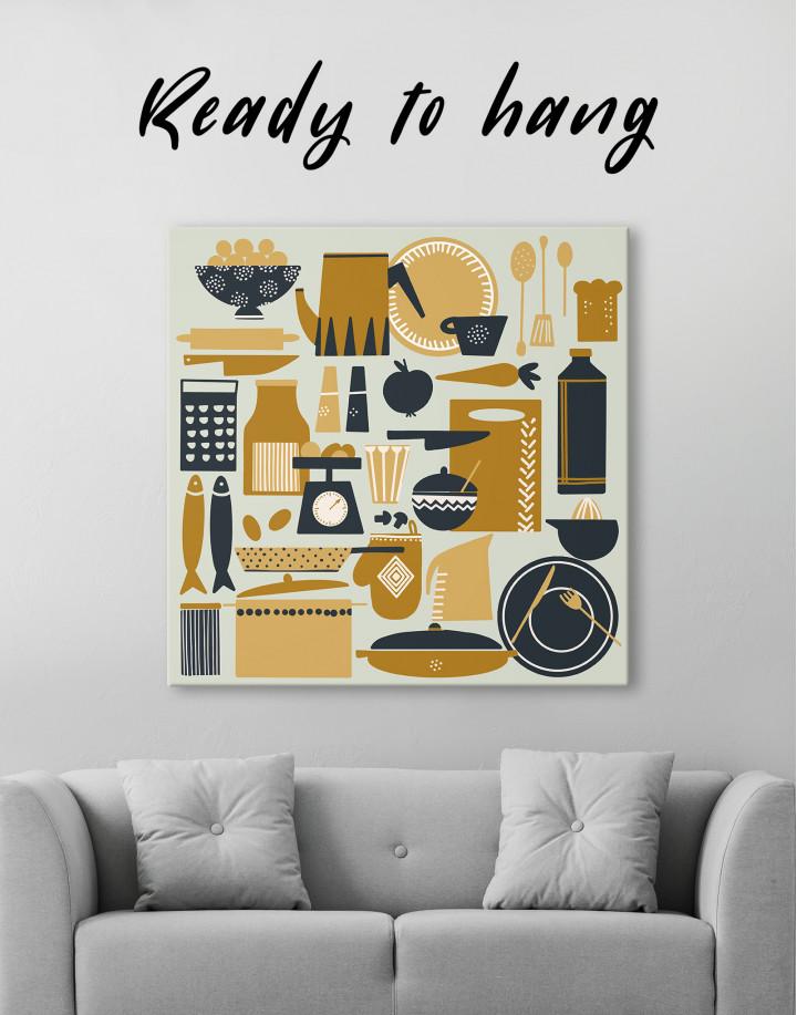 Beautiful Kitchenware Canvas Wall Art