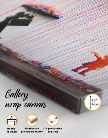 Umbrella Rainbow Canvas Wall Art - image 4