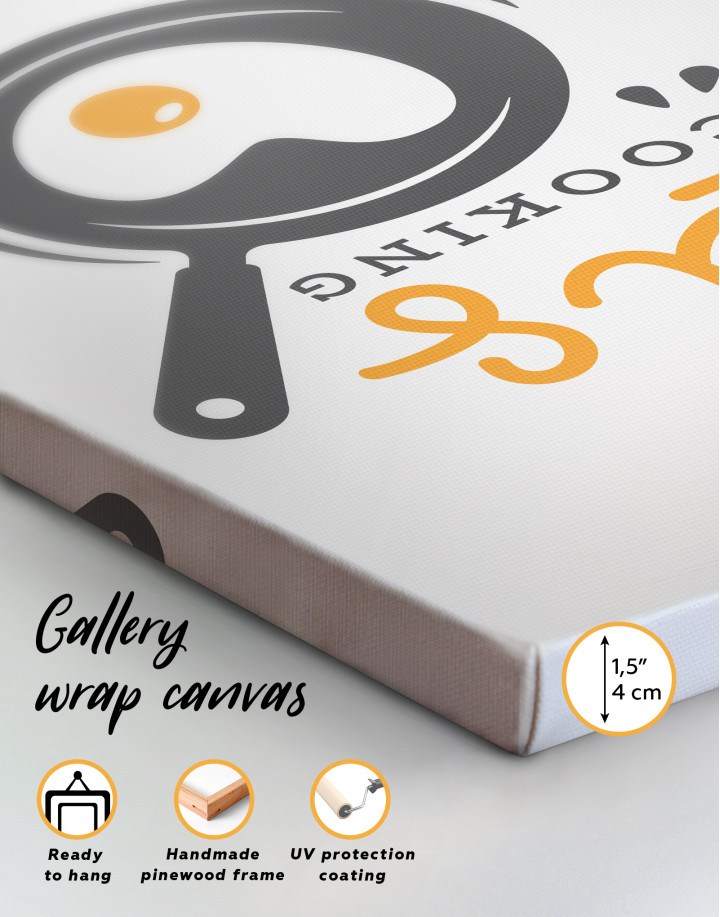 Lets Cooking Canvas Wall Art - Image 2