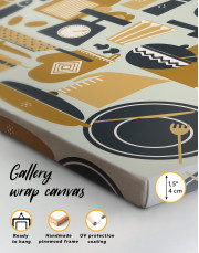 Beautiful Kitchenware Canvas Wall Art - Image 3