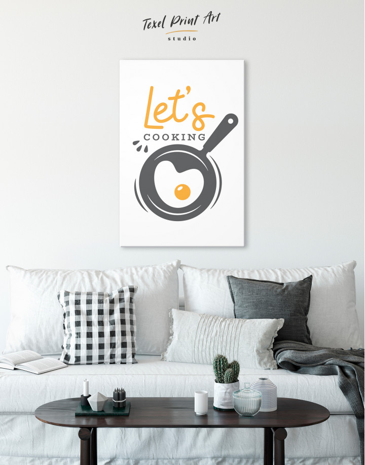 Lets Cooking Canvas Wall Art - Image 3