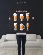 Beer Glass and Mug Canvas Wall Art - Image 2
