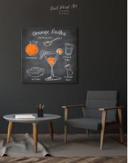 Orange Vodka Cocktail Canvas Wall Art - Image 2