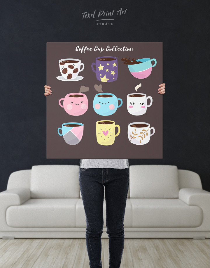Coffee Cup Collection Canvas Wall Art - Image 2