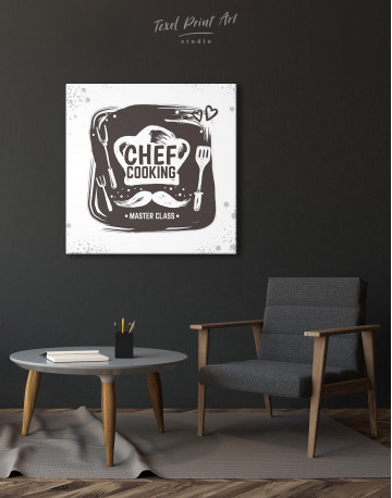 Chef Cooking Master Class Canvas Wall Art - image 2