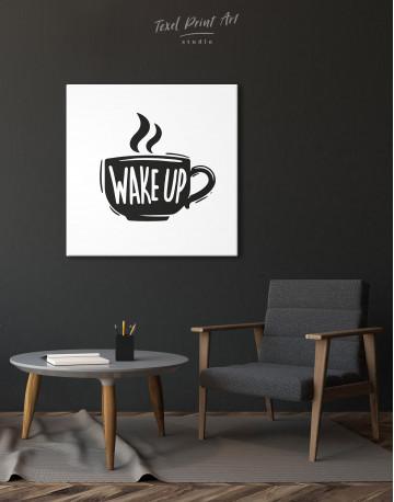 Coffee Wake Up Canvas Wall Art - image 2