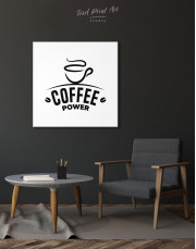 Coffee Power Canvas Wall Art - Image 2
