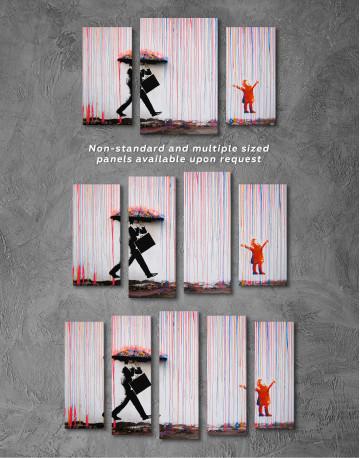 Umbrella Rainbow Canvas Wall Art - image 2