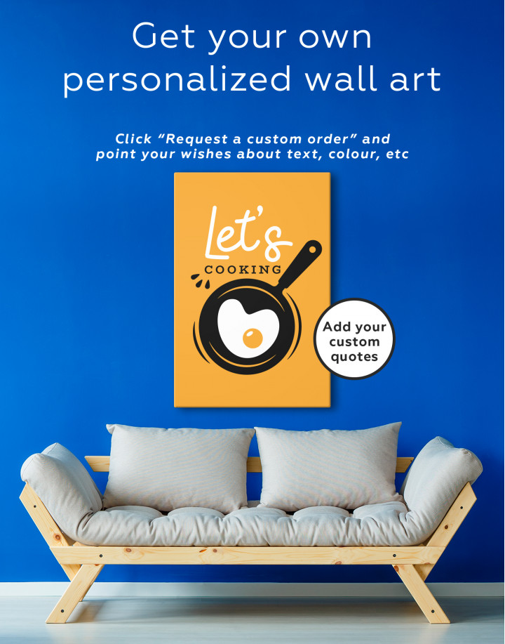 Lets Cooking Canvas Wall Art - Image 1