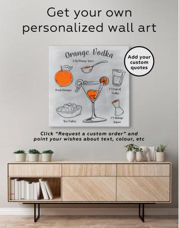 Orange Vodka Cocktail Canvas Wall Art - image 3