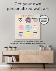 Coffee Cup Collection Canvas Wall Art - Image 3