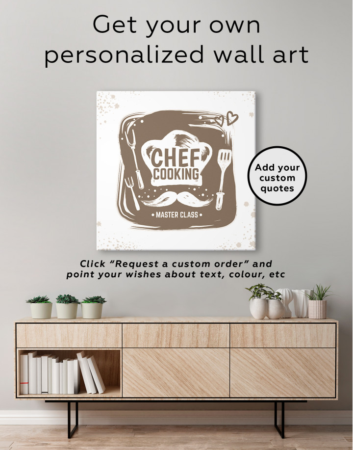 Chef Cooking Master Class Canvas Wall Art - Image 3