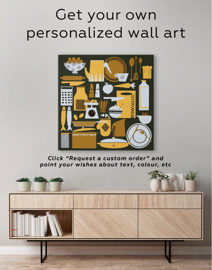 Beautiful Kitchenware Canvas Wall Art - Image 1