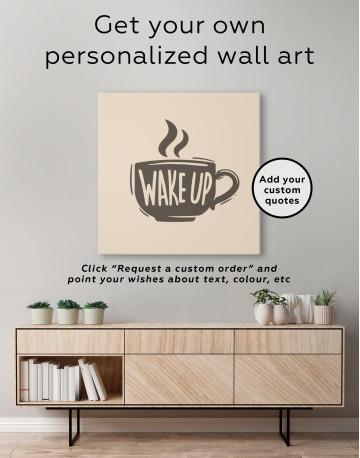 Coffee Wake Up Canvas Wall Art - image 3