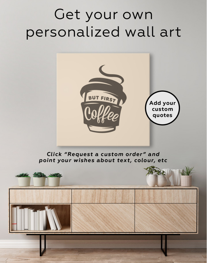 But First Coffee Canvas Wall Art - Image 3