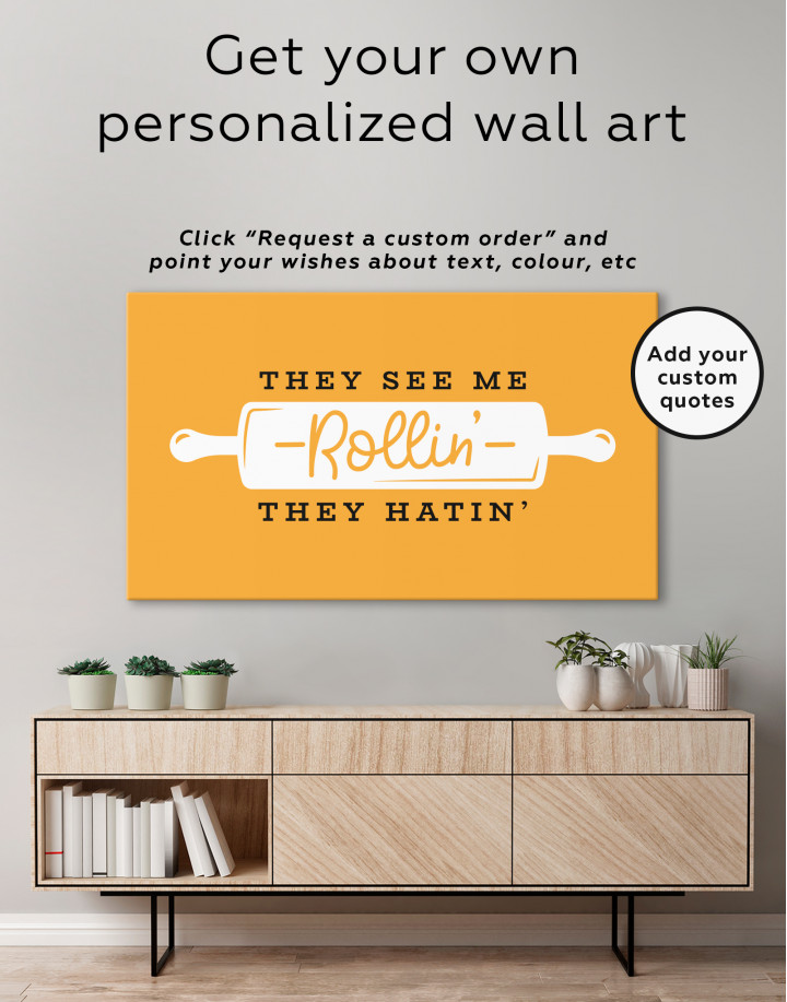 They See Me Rollin They Hatin Canvas Wall Art - Image 1