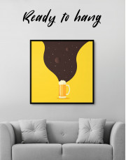 Abstract Beer Glassware Canvas Wall Art