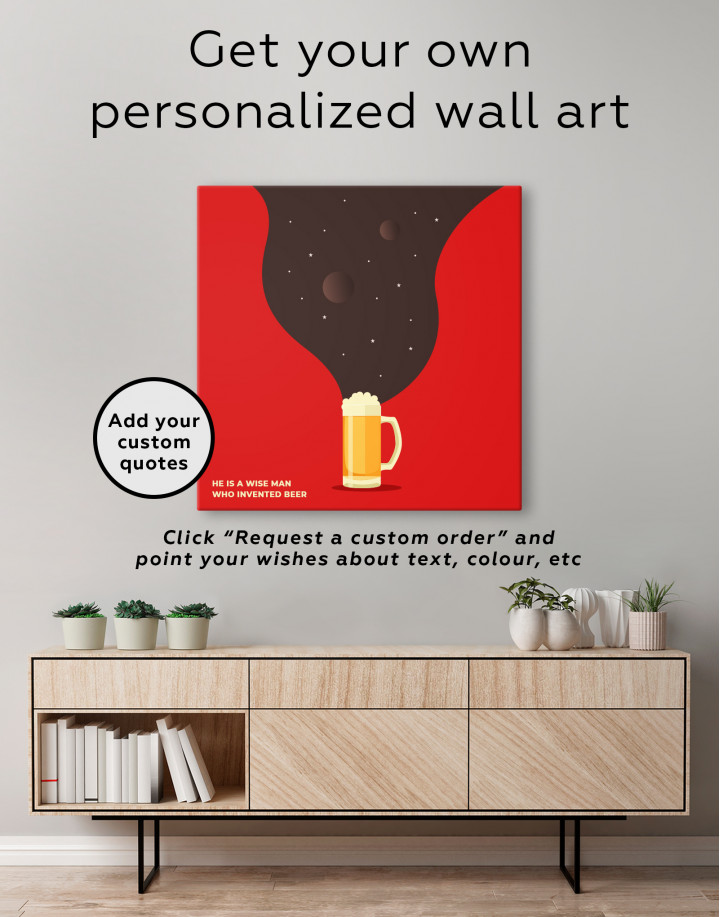 Abstract Beer Glassware Canvas Wall Art - Image 1