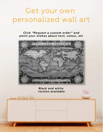 Vintage Map Canvas Wall Art - image 1