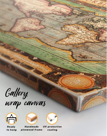 Vintage Map Canvas Wall Art - image 4
