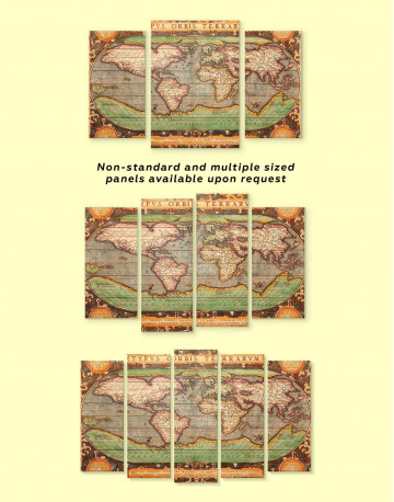 Vintage Map Canvas Wall Art - image 2