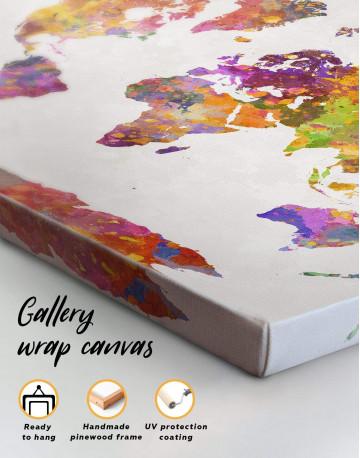 Abstract Watercolor Map Canvas Wall Art - image 3