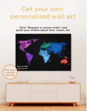 Geometric Map of the World Canvas Wall Art - Image 4