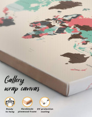 Political Map of the World Canvas Wall Art - Image 4