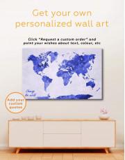 Large Gold World Map Canvas Wall Art - Image 3