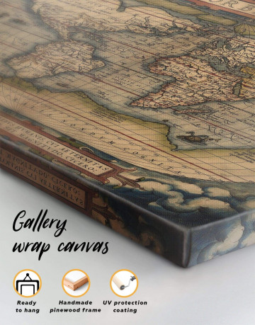 Antique Map of the World Canvas Wall Art - image 4
