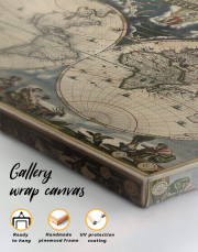 Antique Style Map of the World Canvas Wall Art - Image 1