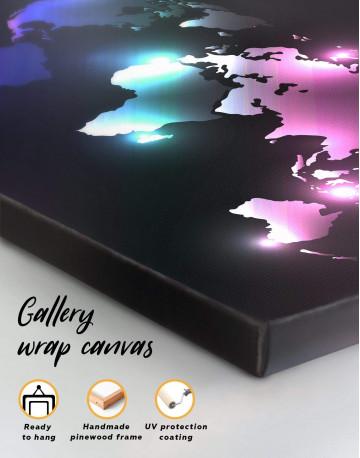 Shining Abstract World Map Canvas Wall Art - image 4