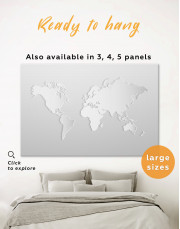 Abstract Silver World Map