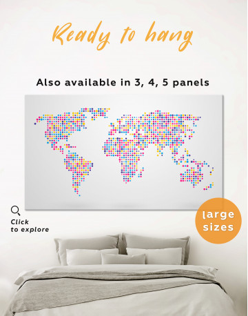 Multicolor Dotted World Map