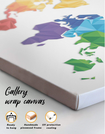 Minimalistic Geometric World Map Canvas Wall Art - image 4