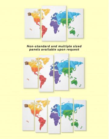 Minimalistic Geometric World Map Canvas Wall Art - image 2