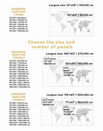 Minimalistic Geometric World Map Canvas Wall Art - image 3