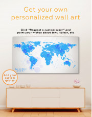 Orange Dotted World Map