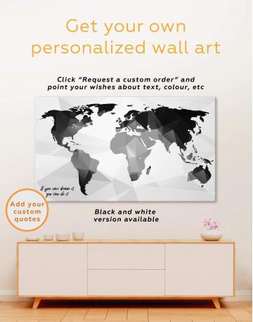 Extraordinary Abstract World Map Canvas Wall Art - image 2