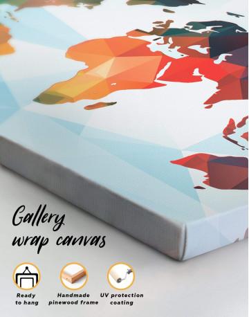 Extraordinary Abstract World Map Canvas Wall Art - image 1