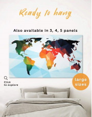 Extraordinary Abstract World Map Canvas Wall Art - Image 0