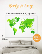 Simple Green World Map
