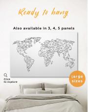 Simple Geometric World Map