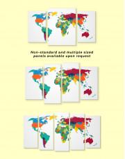 Multicolored World Map