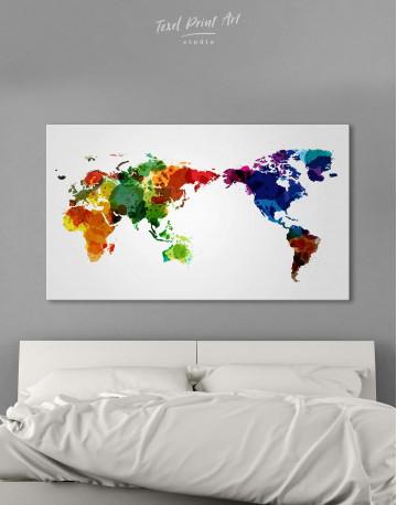Unique World Map Canvas Wall Art - image 1