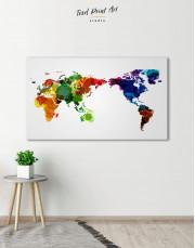 Unique World Map Canvas Wall Art - Image 0