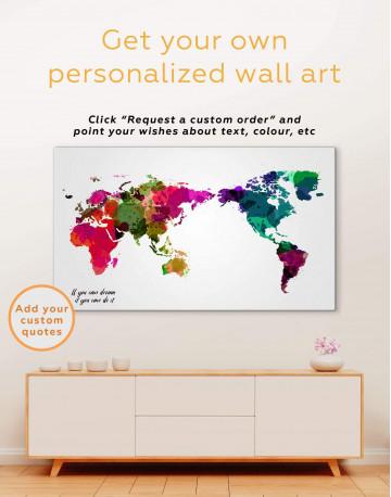 Unique World Map Canvas Wall Art - image 6